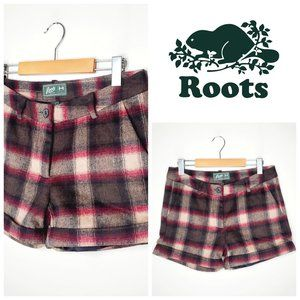 ROOTS CANADA Wool Modern Plaid Shorts